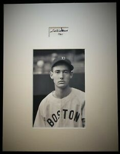 Vintage 1961 Ted Williams Fountain Pen Signed Matted Snapshot HOF D 2002 JSA