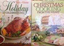 Taste of Home Holiday & Celebrations and Christmas Cooking from the Heart 2 pack