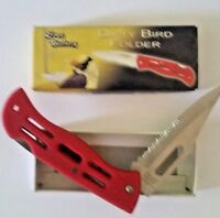 Dirty Bird Folder by Frost Cutlery New with box Red Color