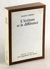 First Edition/First Printing 1967 L'Ecriture et La Difference Jacques Derrida