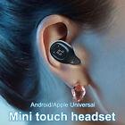 Single In-Ear Mini 5.0 Bluetooth Earphone Wireless Smart Touch Earbud Headset D