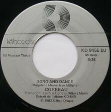 CORBEAU (Marjo) Song and dance /Maladie d'amour PROMO 1982 Canada QUEBEC ROCK 45