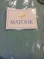 NEW MATOUK STANDARD SHAM ALTO LAGOON MATELASSE AQUA / BLUE