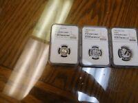 1990 China Platinum Panda  1/10, 1/4, 1/2  3 coin set  NGC PR69 Ultra Cameo