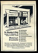 Motorrad Ersatzteile--Dr. Düsedau & Heip - Leipzig --Werbung von 1959