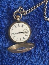 Half Hunter Omega Pocket Watch With Chain