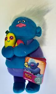 "Trolls Hug 'n Plush 10"" Soft Plush Toy Biggie Hasbro"