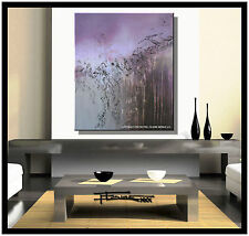 ABSTRACT CANVAS PAINTING Large, Listed by Artist, Framed, Signed, US ELOISExxx
