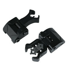 Rapid Transition Flip Up Front Rear Folding Iron Sight Set Hunting Attachment
