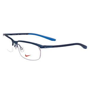 NIKE Eyeglasses 6070 410 Satin Navy Modified Rectangle Men 53x17x135