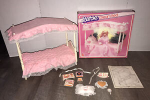 Vintage 80s Barbie Dream Bed used with original box & instructions