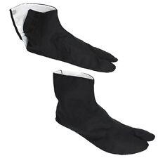 "Japanese Kimono 9.5"" Split Toe Tabi Socks w/ Hooks Kohaze Geta Sandals/Black"