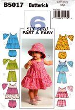 Butterick Patterns B5017 All Sizes Infants Top Dress Panties Shorts Pants an