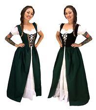 RENAISSANCE MEDIEVAL CELTIC PRINCESS COSTUME BODICE CHEMISE IRISH OVER DRESS