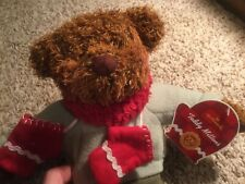 "Hallmark Teddy Red Mittens Teddy Bear 12"" Plush Stuffed Animal Toy"