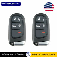 2pcs FOR Dodge Ram1500 2500 3500 REMOTE START KEY FOB GQ4-54T 5 Buttons
