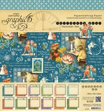 Graphic45 2 sheets, Childrens hour calendar PAD collection 8 x 8 PAPER PAD