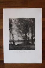 ✒ ca.1890 Camille COROT Souvenir des Marais de Fampoux : l'Aube