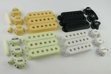 PICKUP COVERS 52mm or 50mm, KNOBS & TIPS in 4 Colours for Stratocaster guitars