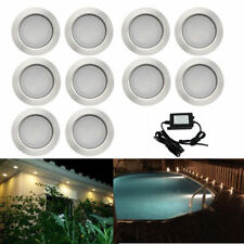 10x 45mm LED Deck Path Soffit Step Lights Warm White Outdoor Yard Landscape 12V