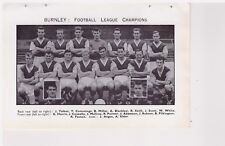 Team Pic from 1960-61 FOOTBALL Annual - BURNLEY + WOLVERHAMPTON WANDERERS goal