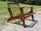 Vintage Mid Century Modern Solid Oak Arm Chair Frame