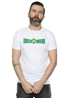 Official DC Comics Marvel Green Lantern Text Crackle Logo White T-Shirt Size L