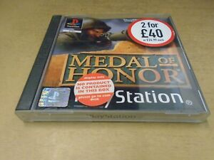 Medal Of Honor PS1 Boxed with Manual Tested Working PAL Black Label