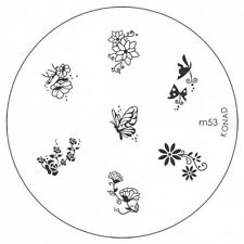 Konad Image Plate M53 Stamping Disc DIY Salon No.1 Nail Art UK Better than MoYou