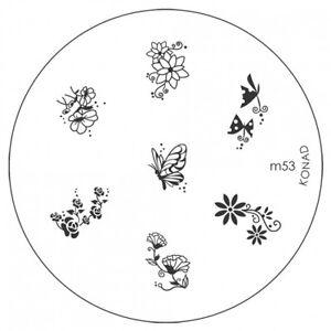 Konad Image Plate M53 Stamping Disc DIY Salon No.1 Nail Art UK Better than MoYou