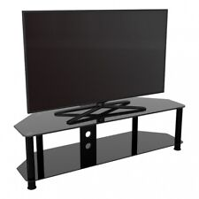 """TV Stand Modern Black Glass Unit up to 65"""" inch HD LCD LED Curved TVs - 140cm"""