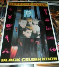 Depeche Mode Promo Vintage Poster 80s Concert Tour Black Celebration NO LP CD