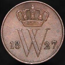 More details for 1827 b   netherlands willem i 1 cent   copper   coins   km coins