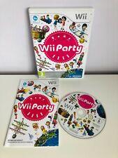 Nintendo Wii Fiesta Juego Con Manual Y puntos sin rascar Club tarjeta-PAL-en muy buena condición