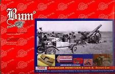 """BUM Models 1/72 AMERICAN WWI 8"""" HOWITZER with CREW & SCOUT CAR Figure Set"""