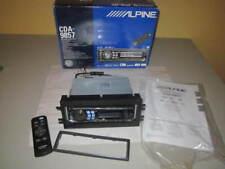 Alpine CDA-9857 CD PLAYER MP3/WWM Radio RECEIVER with REMOTE Box INSTRUCTIONS +