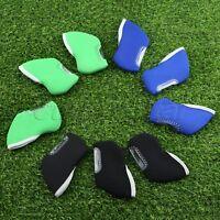 10pcs/set Golf Club Iron Head Covers Protect Set Neoprene Black/Green/Blue