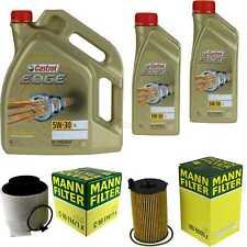 Inspection Kit Filter Castrol 7L Oil 5W30 for Audi Q5 8R SQ5 Tdi Quattro 3.0