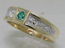 Neues AngebotModerner Smaragd Ring 585 Gelbgold 14K Gold natürlicher Smaragd