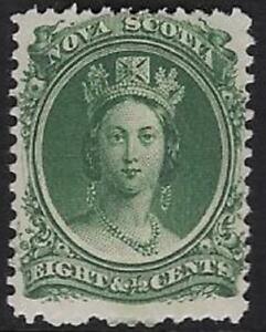 Canada, Nova Scotia 1860 8½¢ Green, Sc #11, F/VF, MNH, CV $18.75