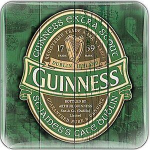 Guinness Green Label epoxy fridge magnet  75mm x 75mm