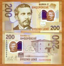 Albania, 200 leke, 2017 (2019),  P-New, First Polymer, AA-Prefix, UNC > Poet