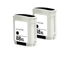 2-Pk/Pack 88XL Ink Black C9396AN HP Officejet Pro L7500 L7550 L7580 L7590 L7600