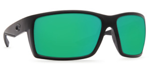 Costa Del Mar REEFTON Black Green Mirror Sunglasses 580G Glass RFT 01 OGMGLP