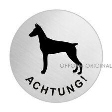 OFFORM Hundewarnschild l Schild l Achtung Dobermann l Ø 75 mm l Nr.39299
