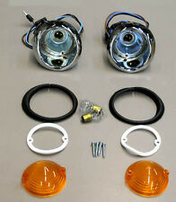 New! 1966 Mustang Parking Light Lamp Lights Pair Lenses and Gaskets TURN SIGNALS
