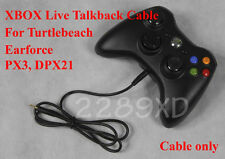 New XBOX TALKBACK CABLE for TURTLE BEACH PX3,DPX21 LIVE CHAT/ 2.5mm / EAR FORCE