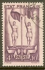 """FRANCE TIMBRE STAMP N°579 """"TRAVAIL FAMILLE PATRIE 4F+10F"""" OBLITERE TB"""