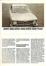 BMW   Folder  1800, 2000, 2000 TILUX   1969