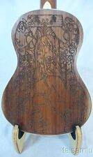 Alulu solid mahogany tenor ukulele, green abalone, laser sexy girl UMT19